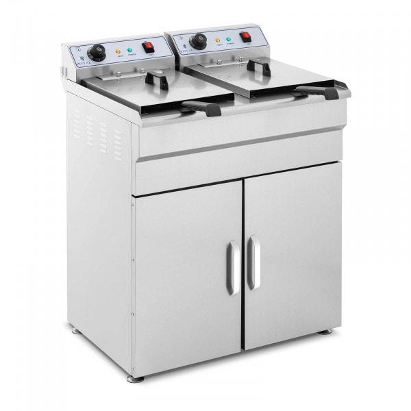 Fritadeira com armário incorporado - 2 x 16 litros