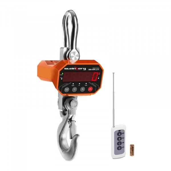 Balança digital de guindaste - 5 t / 2 kg - LED