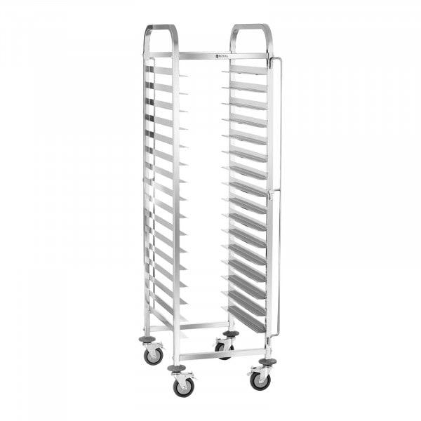 Carrinho de catering para bandejas - 150 kg - 16 bandejas de 60 x 40 cm