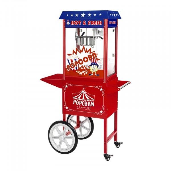 Popcornmaschine - inkl. Wagen - USA-Design - 1538 - 1