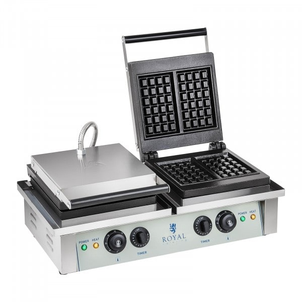 Máquina de Waffles - 2 x 2000 watts - Retangular