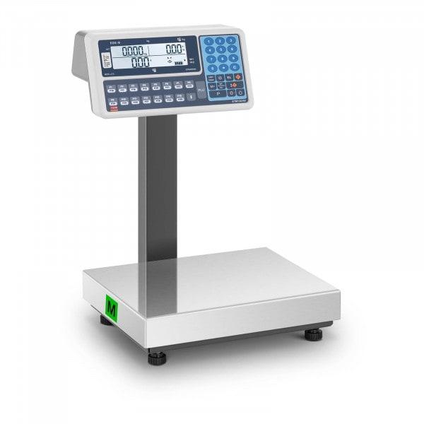 Produtos recondicionados Balança de loja - 30 kg - LCD - legalização