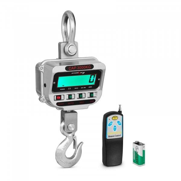 Balança digital de guindaste - 3 t / 0,5 kg - LCD