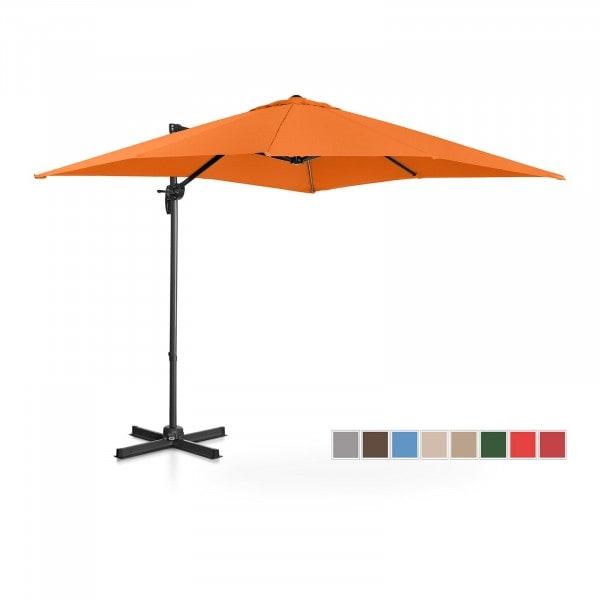 B-Ware Ampelschirm - orange - viereckig - 250 x 250 cm - drehbar