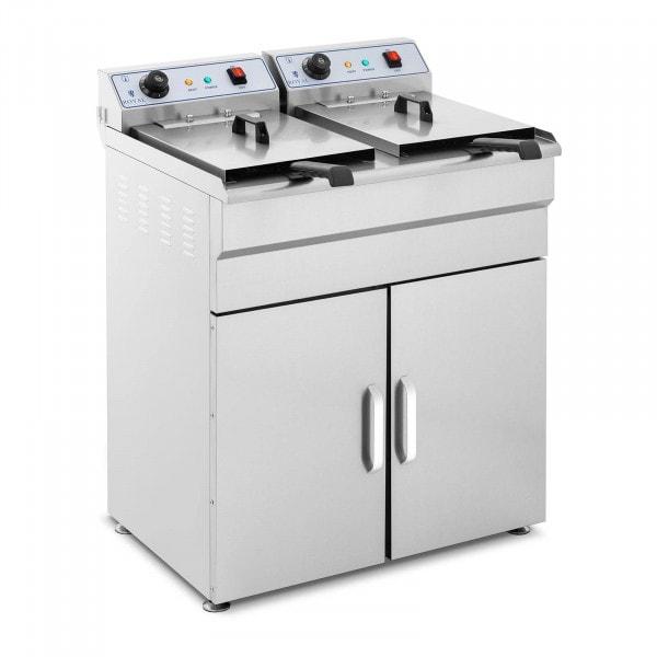 Produtos recondicionados Fritadeira com armário incorporado - 2 x 16 litros
