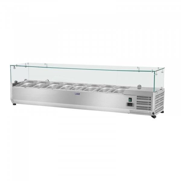 Produtos recondicionados Vitrine refrigerada - 180 x 39 cm - 8 x GN 1/3 - tampa de vidro