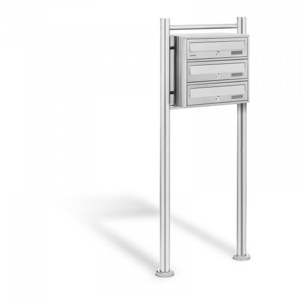 Produtos recondicionados Caixa de correio - 3 compartimentos - aço inoxidável