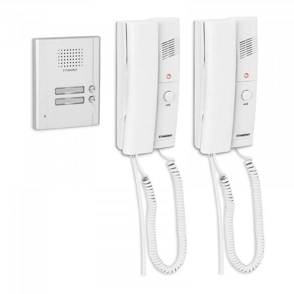 Produtos recondicionados Interfone para casa de duas famílias - 100 m - montado à superfície