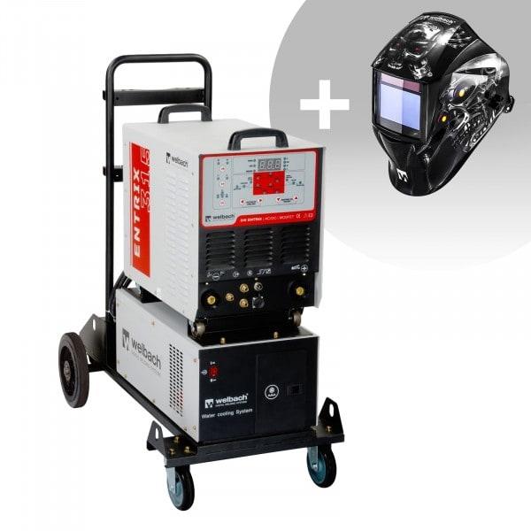 Conjuntos de soldar Máquina de Soldar em ALU - 315 A - 400 V - Impulsos - Refrigerador de água + Máscara de Soldar - Metalator - SÉRIE EXPERT