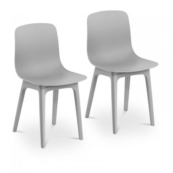 Produtos recondicionados Cadeira - cinza - até 150 kg - 2 pçs.