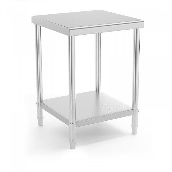 Produtos recondicionados Mesa de trabalho - 60 x 60 cm - 150 kg - aço inoxidável