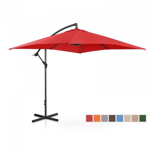 Produtos recondicionados Guarda-sol suspenso para jardim - 250 x 250 cm - cor vermelho