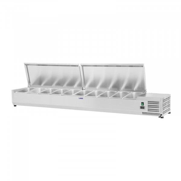 Produtos recondicionados Vitrine refrigerada - 200 x 33 cm - 10 x GN 1/4