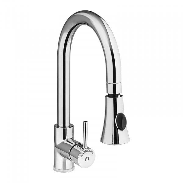 Torneira de cozinha com chuveiro - mangueira integrada - Latão cromado - mangueira 1200 mm