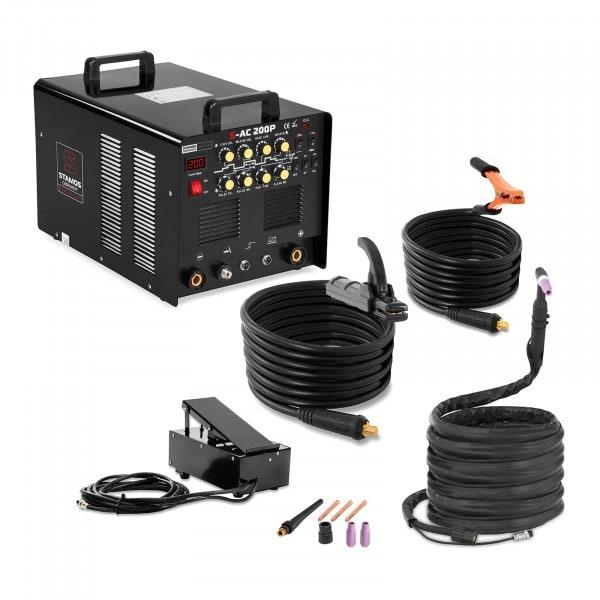 Máquina de Soldar ALU - 200 A - 230 V - impulso - pedal incl.