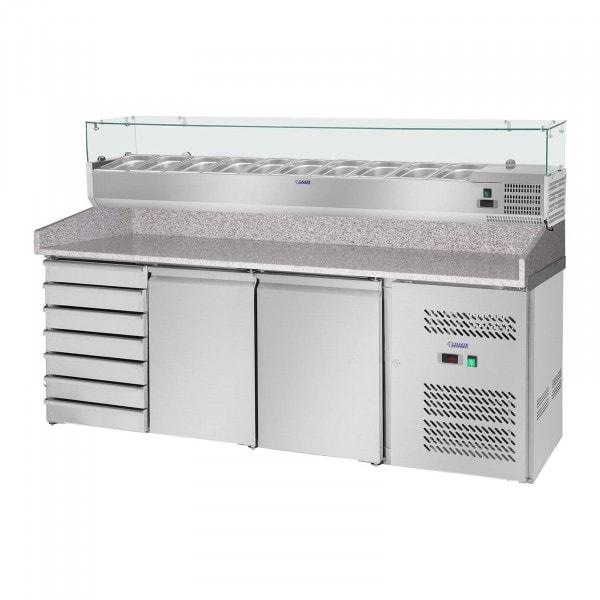 Produtos recondicionados Mesa de refrigeração - 203 x 80 cm - vitrine refrigeradora