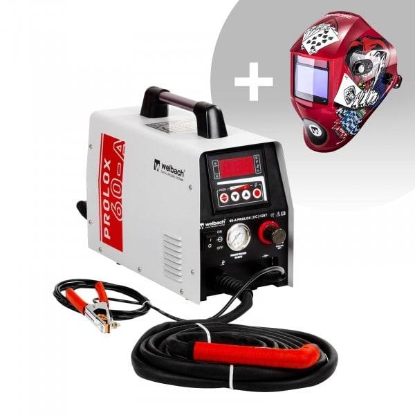 Conjuntos de soldar Máquina de Corte por Plasma - 40 A - 230 V - Digital - Chama Piloto + Máscara de Soldar - Pokerface - SÉRIE PROFESSIONAL