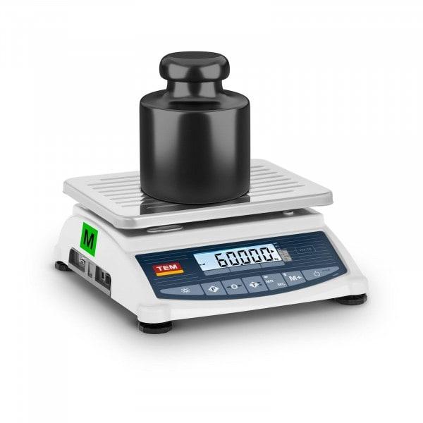 Produtos recondicionados Balança de pesagem - Calibrada - 60 kg / 20 g - LCD - Memória