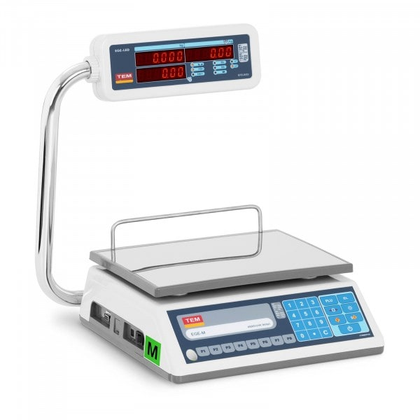 Produtos recondicionados Balança de loja - 30 kg / 10 g - LED - PLU - legalização