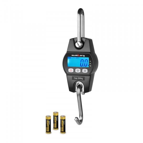 Balança digital de guindaste - 300 kg / 100g - preta