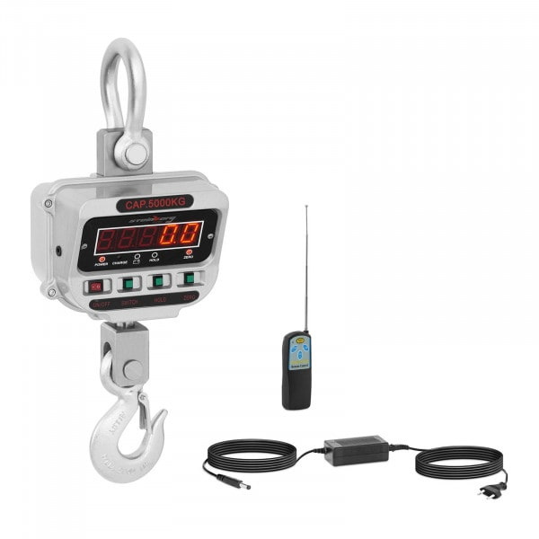 Balança digital de guindaste - 5 t / 1 kg - LED