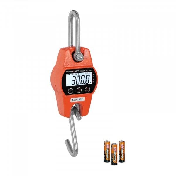 Balança digital de guindaste - 300 kg / 100g - laranja