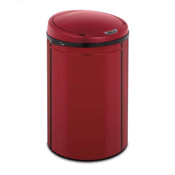 Artigos usados Caixote do lixo automático - 30 l - vermelho - recipiente interior - aço carbono