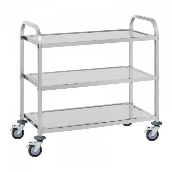 Carrinho de empregado de mesa - 3 prateleiras - 150 kg