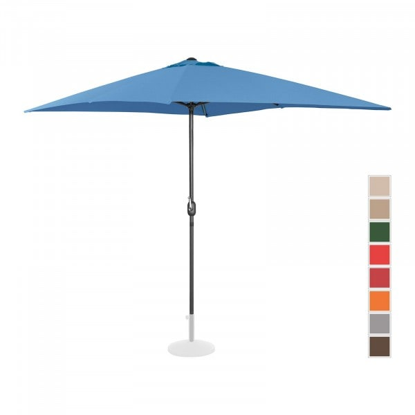 Produtos recondicionados Guarda-sol suspenso para jardim - 200 x 300 cm - azul