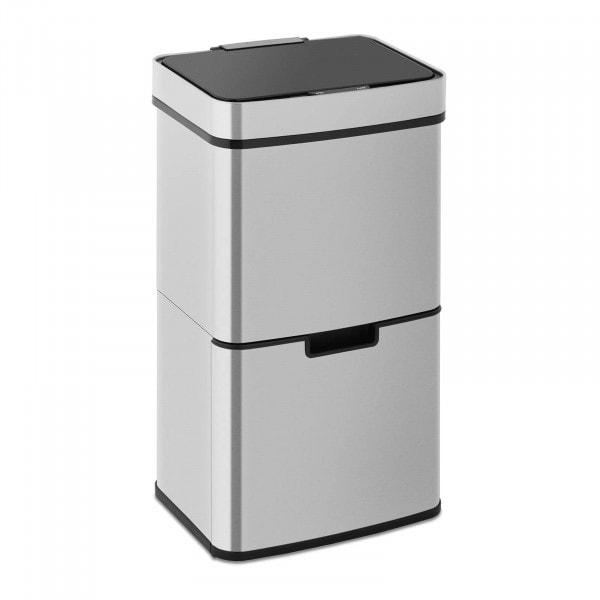 Produtos recondicionados Caixote do lixo automático - 62 l - 3 recipientes - aço inoxidável