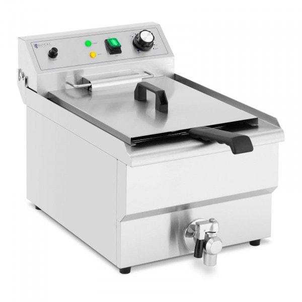 Fritadeira - 13 l - 5000 W - torneira - zona fria
