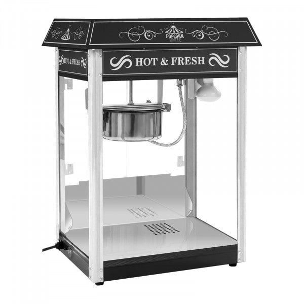 Máquina de Pipocas preta - Design USA