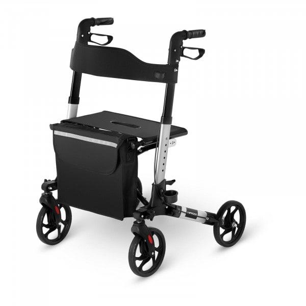 Produtos recondicionados Andador - de quatro rodas - bolsa - prata