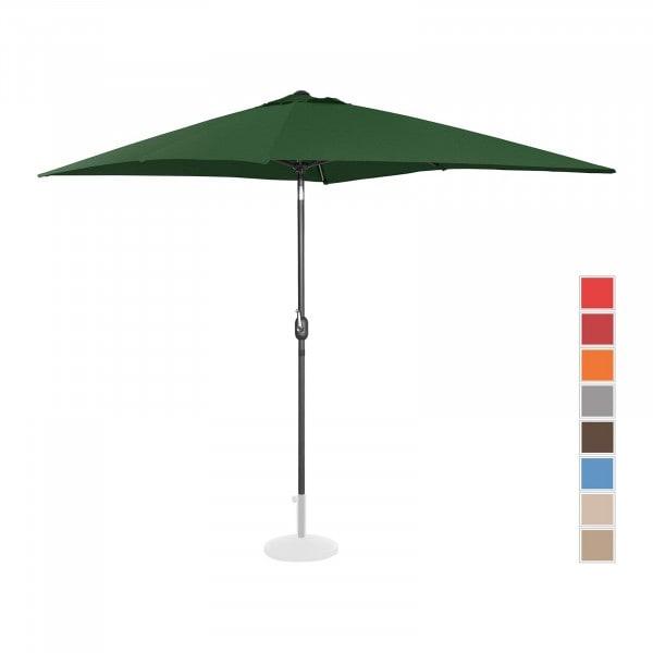 Produtos recondicionados Guarda-sol suspenso para jardim - 200 x 300 cm - inclinado - cor verde