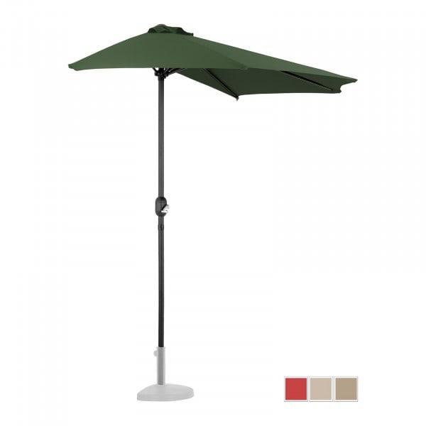 Produtos recondicionados Guarda-sol de jardim semi-redondo - 270 x 135 cm - verde