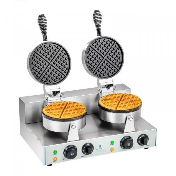 Máquina de Waffles - 2 x 1300 watts - redonda