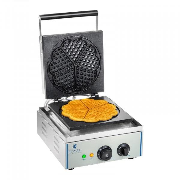 Máquina de Waffles - 1 x 1500 watts - formato coração