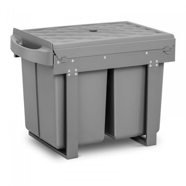 Produtos recondicionados Caixote do lixo embutido - 2 x 20 l