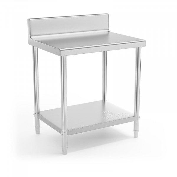 Artigos usados Mesa de trabalho - 80 x 60 cm - 190 kg - aço inoxidável - com rebordo