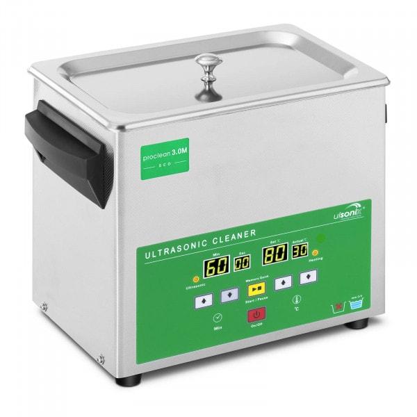 Lavadora ultrassónica - 3 litros - 80 W - Memory Quick Eco