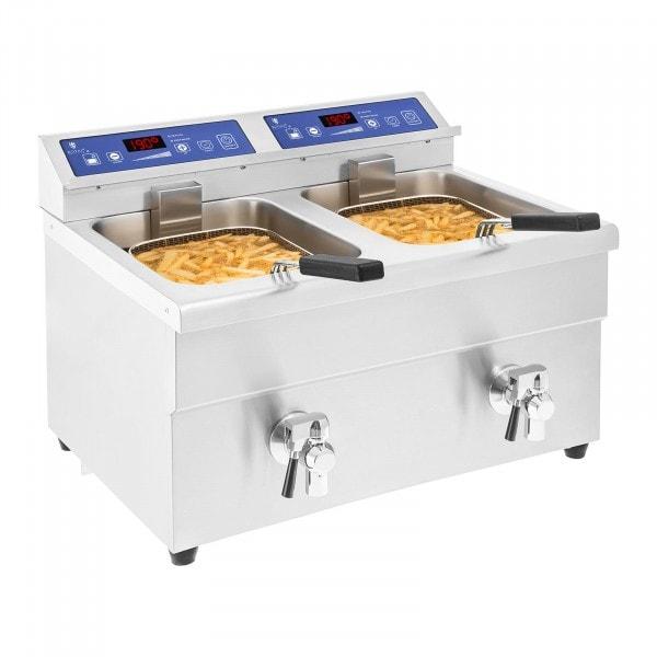 Produtos recondicionados Fritadeira por indução – 2x 10 litros – de 60 a 190°C