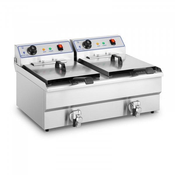 B-WARE Fritadeira - 2 x 16 litros - alta tensão