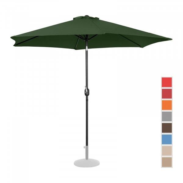 Produtos recondicionados Guarda-sol de jardim hexagonal - verde - - Ø 300 cm - ajustável