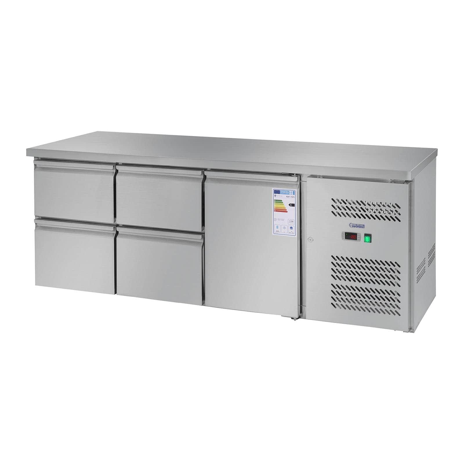 Mesas refrigeradas com circulação de ar